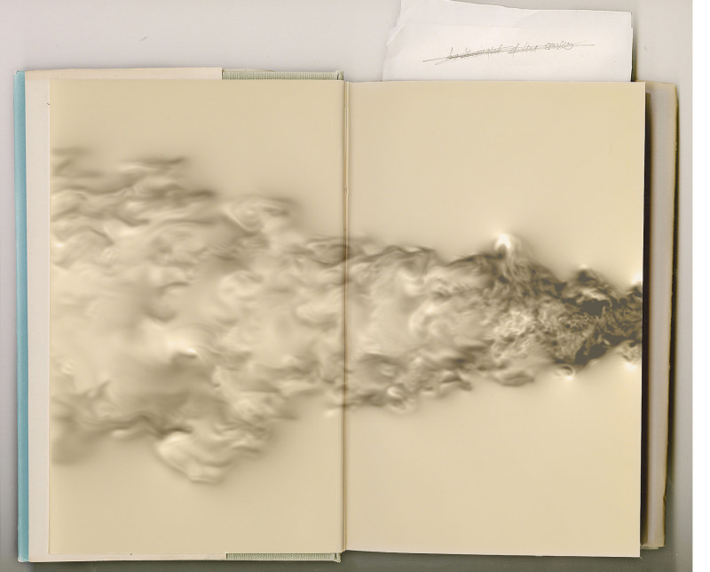 Cloud of Unknowing, graphite, digital pigment print on archival back-lit transparency paper, 54 x 46 in, 2015