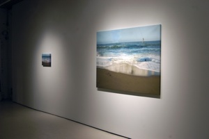 Shipwreck, digital pigment print and oil on canvas, 3 x5' Installation view Peak Gallery, Toronto, Canada, 2007