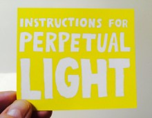 Instructions for Perpetual Light: collaborative performance